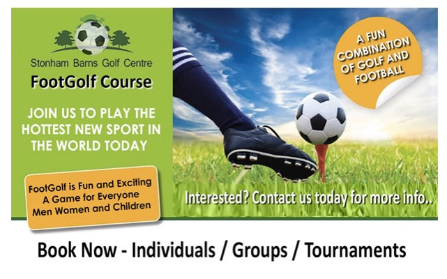 Stonham Barns Footgolf - Advert
